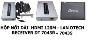 Hộp nối dài DMI 120m - Lan Dtech Recever DR-7043R + 7043S