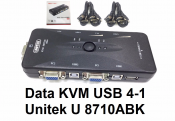 Data KVM USB 4-1 Unitek U8710ABK