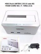 HDD Dock Unitek 2.5/3.5 sata 6G + Hub + Card SD (Y-1092) (3.0)