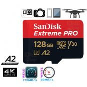 Thẻ nhớ MicroSD 128g Sandisk TF Extreme pro 170mb A2