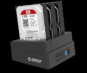 """Đế ổ cứng Orico 6638US3-C (Docking) 3 khe cắm: 3.5"""" và 2.5"""" SATA 3 USB 3.0"""