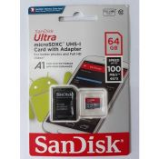 Thẻ nhớ SANDISK TF Ultra 100mb A1+Adapter 64Gb