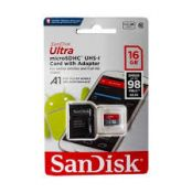 Thẻ nhớ SANDISK TF Ultra 100mb A1+Adapter 16Gb