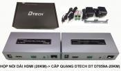 Hộp nói dài HDMI (20KM) to cáp quang DTech DT D7059A-20KM