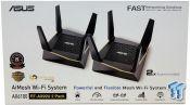 Router Wifi Mesh Asus RT-AX92U (2pack) 3 Băng Tần AX6100 - Hàng Chính Hãng