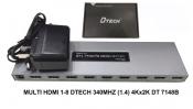 Bộ chia HDMI 1 RA 8 DTECH DT7148B