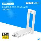 USB mở rộng sóng Wi-Fi ToTolink EX200U chuẩn N, tốc độ 300Mbps