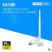 USB mở rộng sóng Wi-Fi ToTolink EX100 chuẩn N, tốc độ 150Mbps