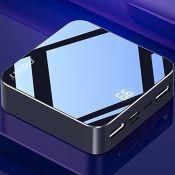 Pin sạc dự phòng Pisen Mini Mirror 10000mAh (Hợp kim Mac + 2 mặt kính, 2x USB Smart, Led, Multi-U )