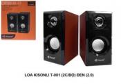 Loa vi tính KISONLI T-001 (2cái Bộ) đen (2.0)