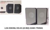 Loa vi tính KISONLI KS-03 (2Cái bộ) xanh . trắng