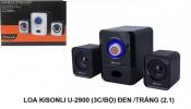 Loa vi tính KISONLI U-2900 (3cái bộ) Đen , Trắng (2.1)