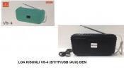 Loa Bluetooth KISONLI VS-4 (BT,TF,USB,AUX) Đen