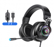 Headphone  HP  H500GS  Led RGB(USB)đen