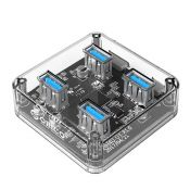 Bộ chia USB Orico MH4U-U3-03 HUB 4 cổng USB 3.0 trong suốt