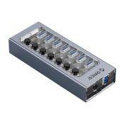 Bộ chia USB Orico CT2U3-10AB-WH HUB 10 cổng USB 3.0 với các công tắc riêng lẻ