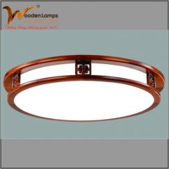 Đèn gỗ ốp trần HVN - 33