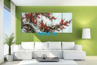 Tranh hoa đào cực đẹp khổ lớn 5 tấm AmiA 370