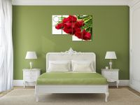Tranh hoa hồng đỏ lãng mạn treo phòng ngủ AmiA 207