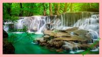 Tranh thác nước có phong cảnh đẹp AmiA 399