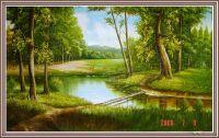 TSD 207 - Tranh sơn dầu phong cảnh một góc rừng tuyệt đẹp