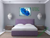 Tranh hoa hồng xanh treo phòng ngủ vợ chồng AmiA 438
