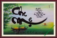 TSD151 - Tranh vẽ sơn dầu Cha Mẹ