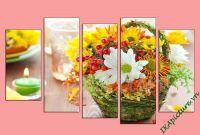 Tranh trang trí nhà hàng, spa hoa nến AmiA 626