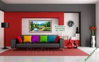 TSD 173 - Tranh vẽ sơn dầu phong cảnh núi rừng
