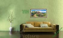 TSD 175 - Tranh sơn dầu phong cảnh đồng hoa