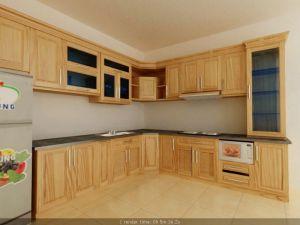 Mẫu tủ bếp gỗ sồi Nga - Thanhnamhome-05