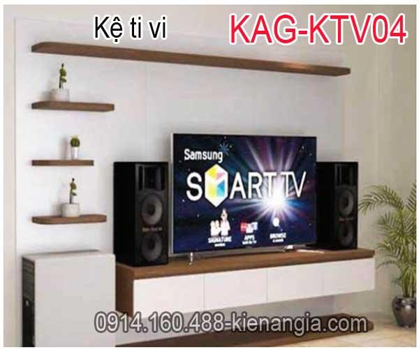 Kệ ti vi trang trí kết hợp KAG-KTV04