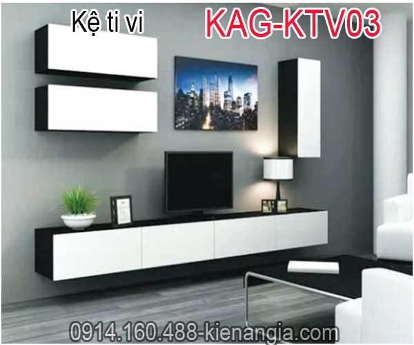 Kệ ti vi trang trí kết hợp KAG-KTV03