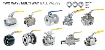 Ball valves, multiway ball valves