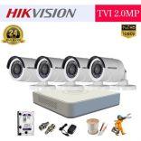 Trọn Bộ 04 Camera Hikvision 2MP FHD 1080P