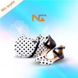Set Túi xách + Giày cao gót Nguyễn Gia - chấm bi
