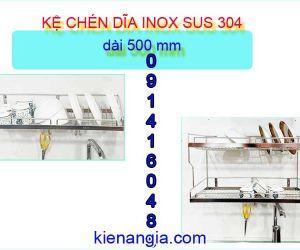 KỆ CHÉN DĨA TREO TƯỜNG TỦ BẾP NHỎ 5 TẤC INOX SUS304