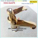 Vòi đồng màu vàng 24K lavabo nóng lạnh  KAG-Gold78