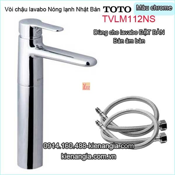 Vòi cao 30cm,vòi nóng lạnh lavabo Đặt bàn TOTO-TVLM112NS