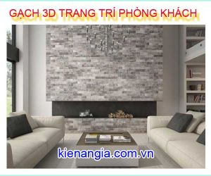 TRANG TRÍ PHÒNG KHÁCH Ô TIVI BẰNG GẠCH 3D