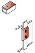 Kẹp nối thanh đồng/thanh nhôm cho hệ thống chống sét