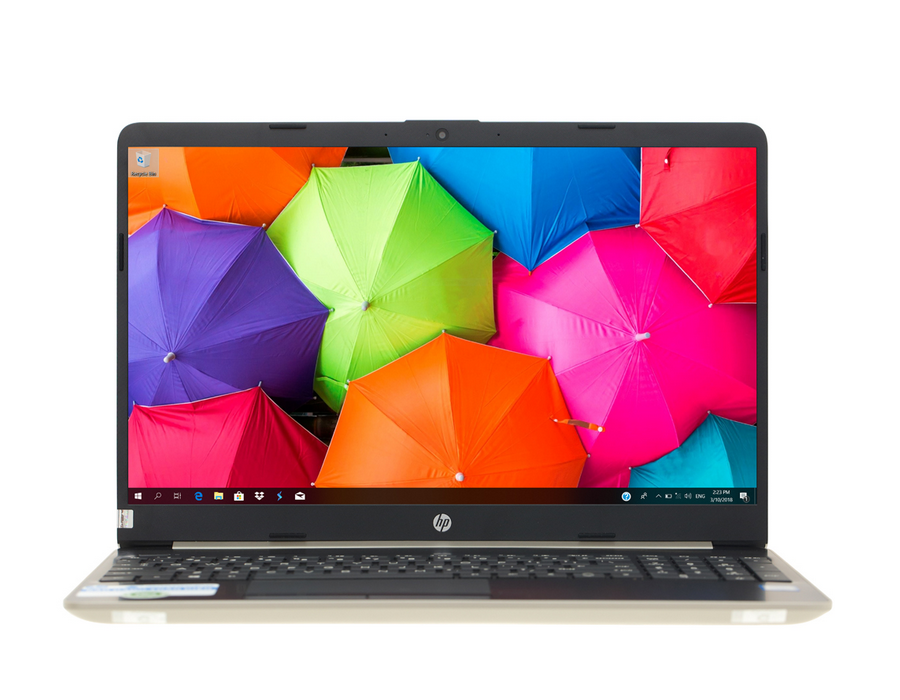"HP 15S-DU0063TU I5(8265U)/ 4GB/ 1TB/ 15.6"" FHD/ Win 10/ Gold, nhựa"