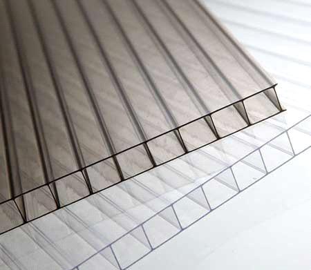 Tấm lợp thông minh polycarbonate gray rỗng ruột