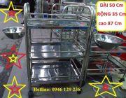 Xe inox 3 tầng có bát Ha Noi Beauty chuyên dụng thẩm mỹ y tế