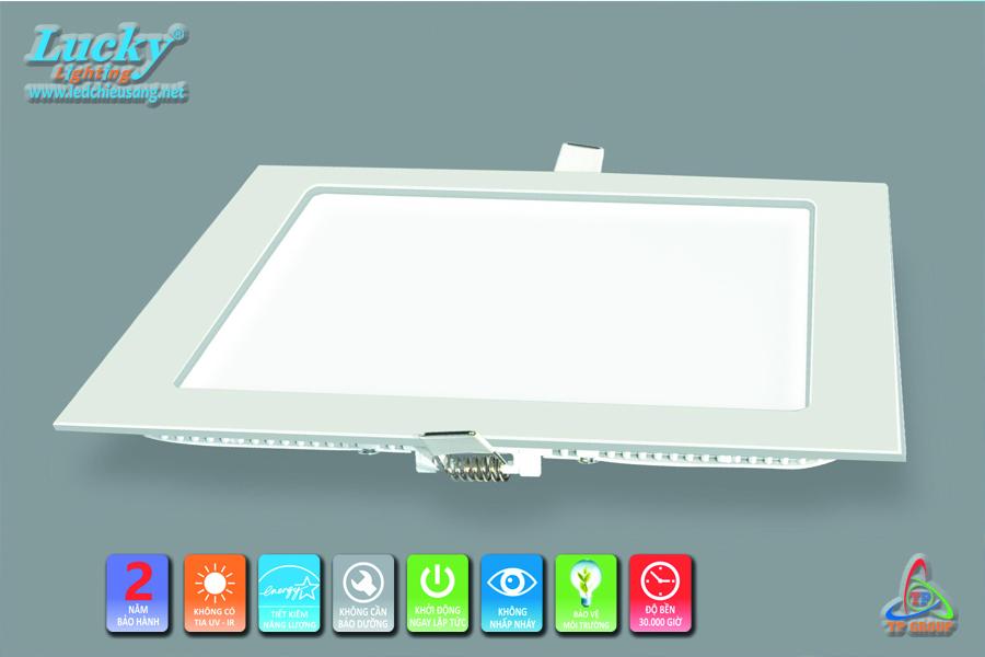 LED downlight âm trần 15w vuông siêu mỏng