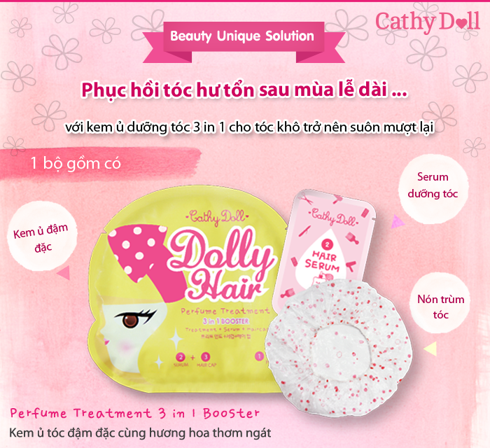 Dolly Hair Perfume Treatment 3 In 1 Booster