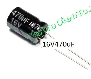 Tụ hóa 470uF 16V 470uF  8X12mm