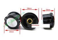 MF-A03-3590S KNOP Núm chiết áp 3590S, núm biến trở đường kính 28mm, cao 15mm, lỗ 6.4mm
