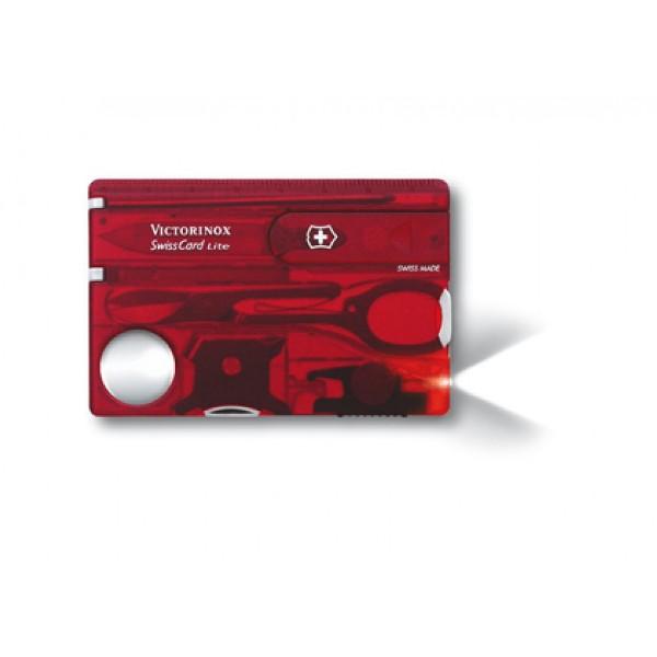 Bộ dụng cụ Victorinox SwissCard Lite màu đỏ, 0.7300.T