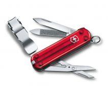 Dụng cụ xếp đa năng hiệu Victorinox Nail Clip 580 màu đỏ trong suốt, 0.6463.T